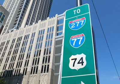 CDOT : Charlotte Engress Guide Signs